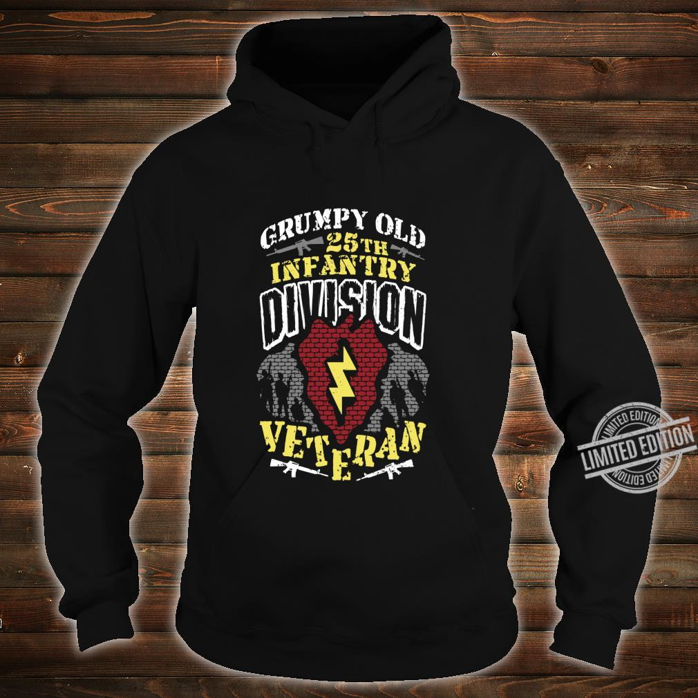 25th Infantry Division Patch Tropic Lightning Grumpy Old Shirt hoodie