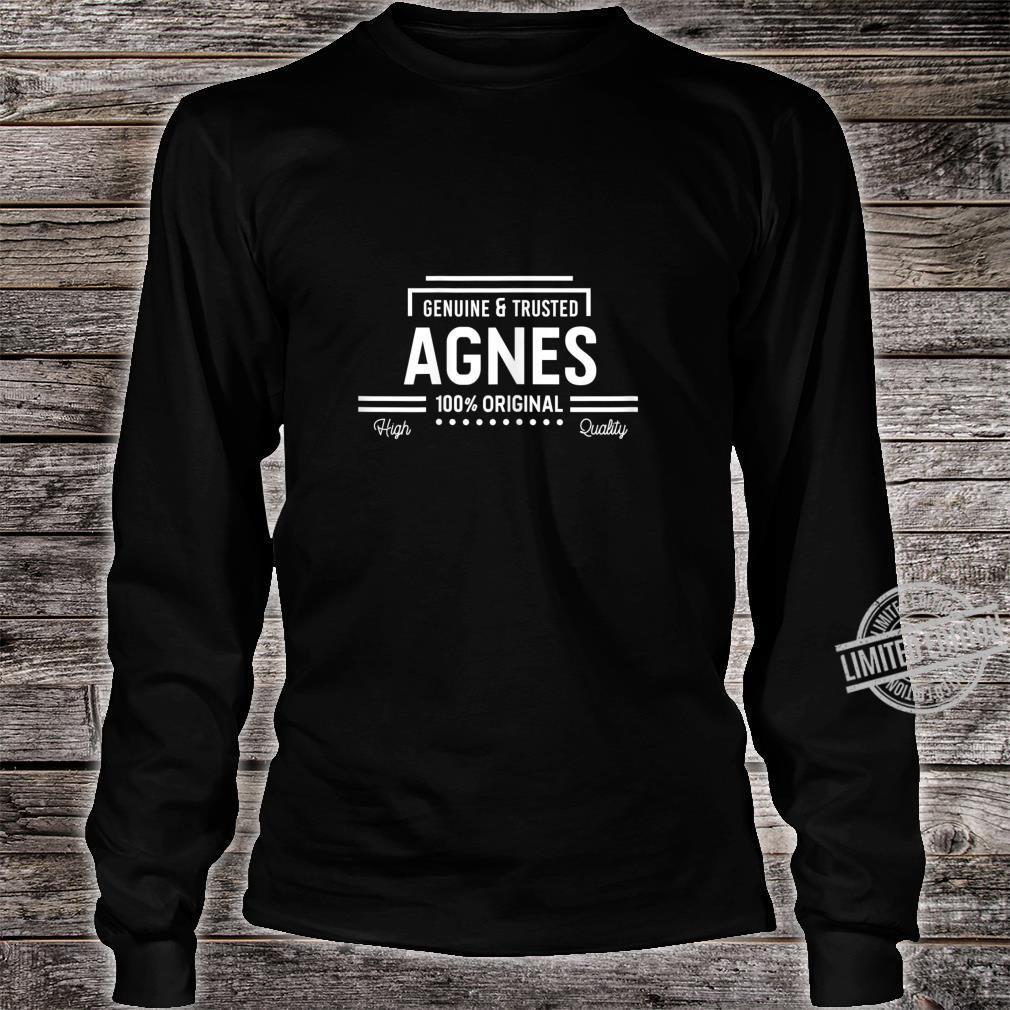 Agnes 100% Original Genuine & Trusted's Name Shirt long sleeved