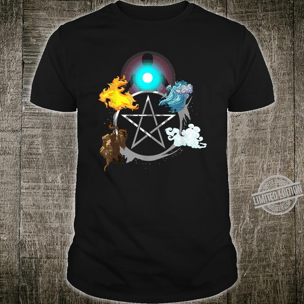 Alchemie Feuer Wasser Erde Luft Elemente Seele Äther Shirt