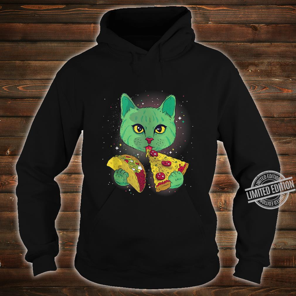 Alien Cat Eat Pizza Taco Space Cats Kittys Shirt hoodie