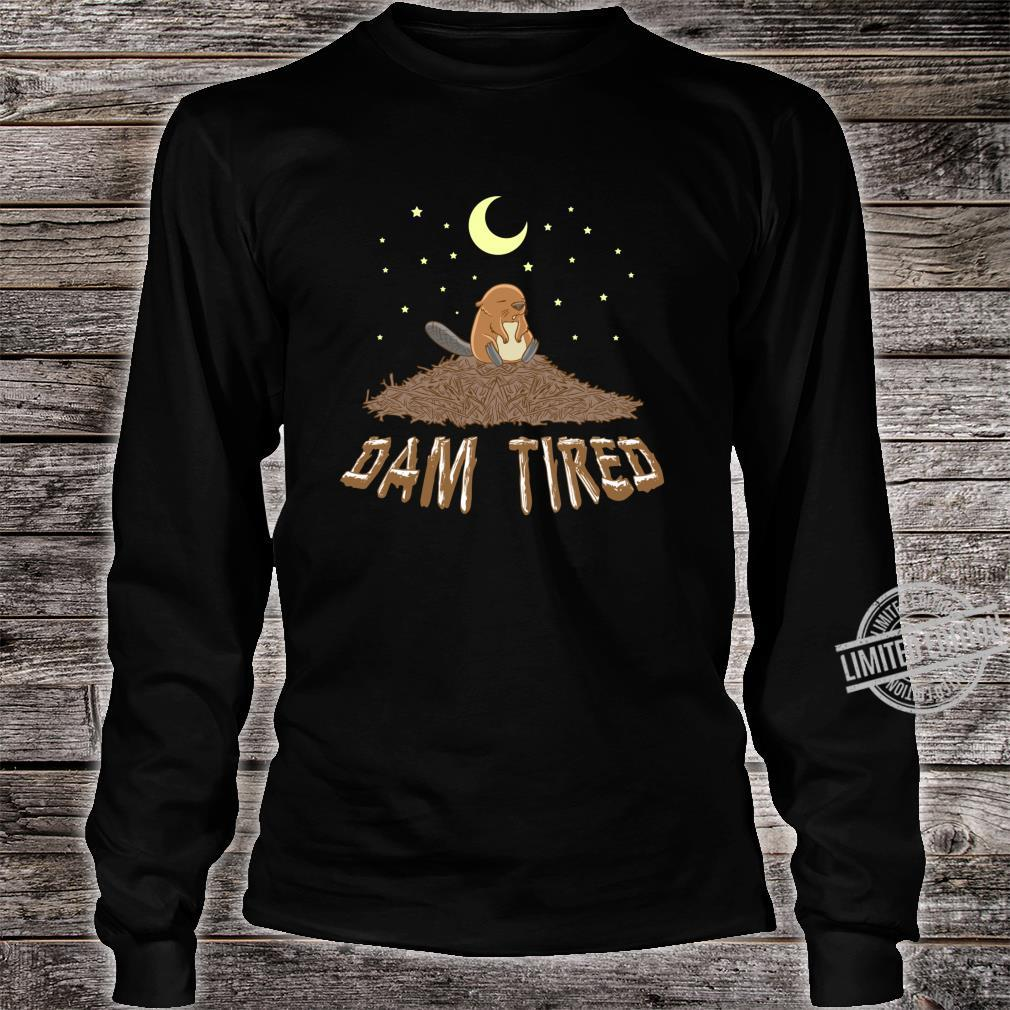 Animal Pajama Night Shirt DAM TIRED Beaver Shirt long sleeved