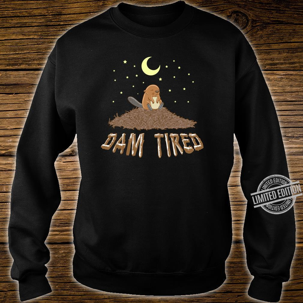 Animal Pajama Night Shirt DAM TIRED Beaver Shirt sweater