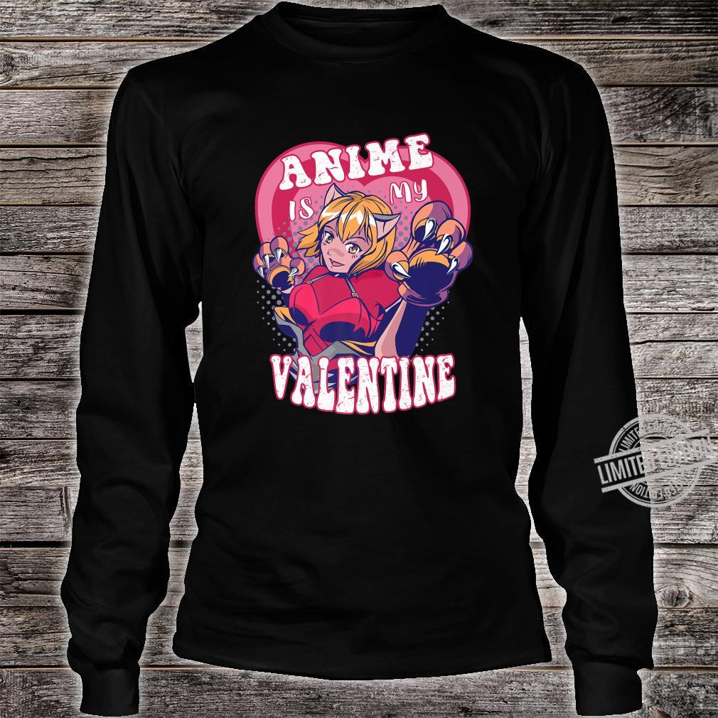 Anime Is My Valentine Anime Valentine's Day Shirt long sleeved