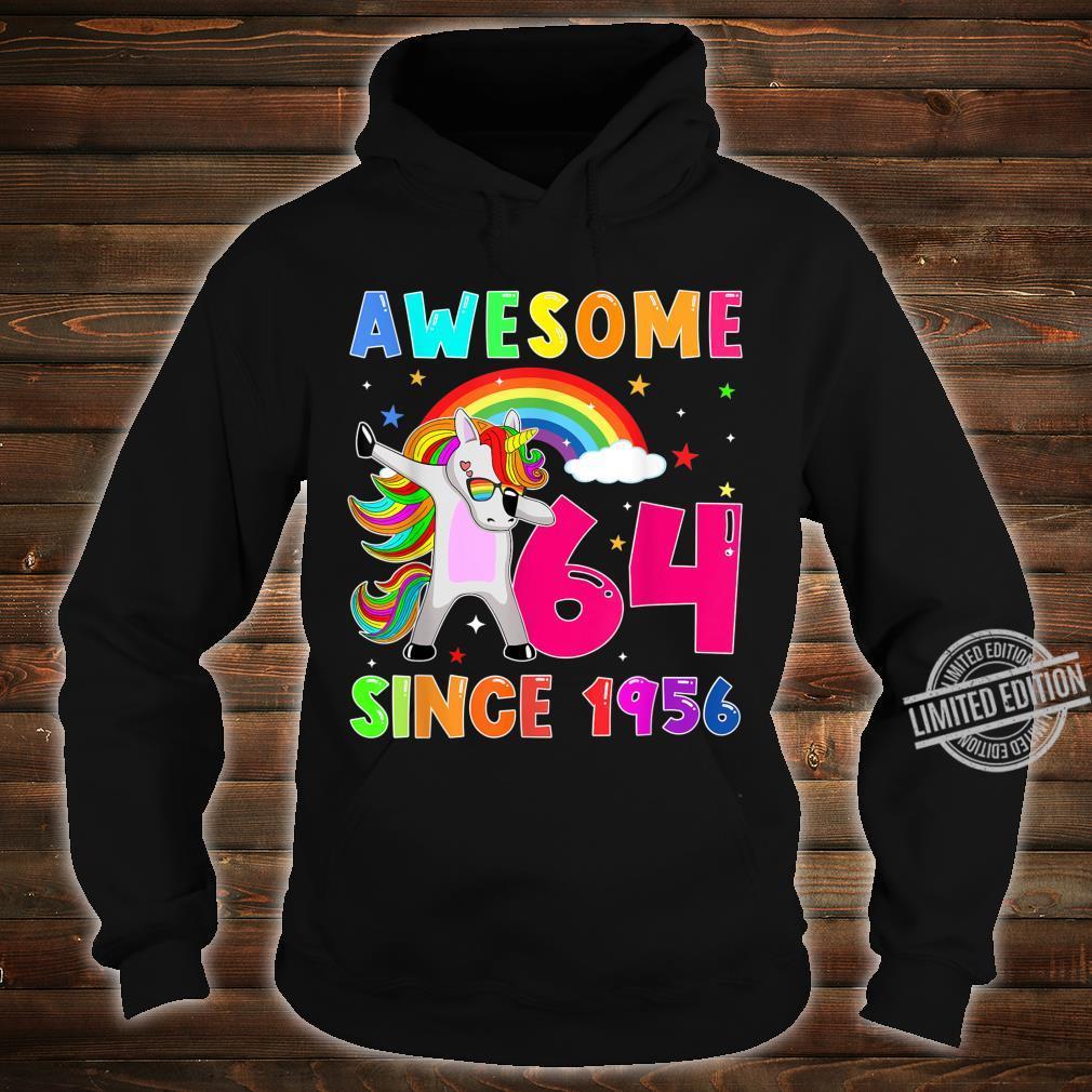 Awesome Since 1956 Dabbing Unicorn 64th Birthday Shirt hoodie