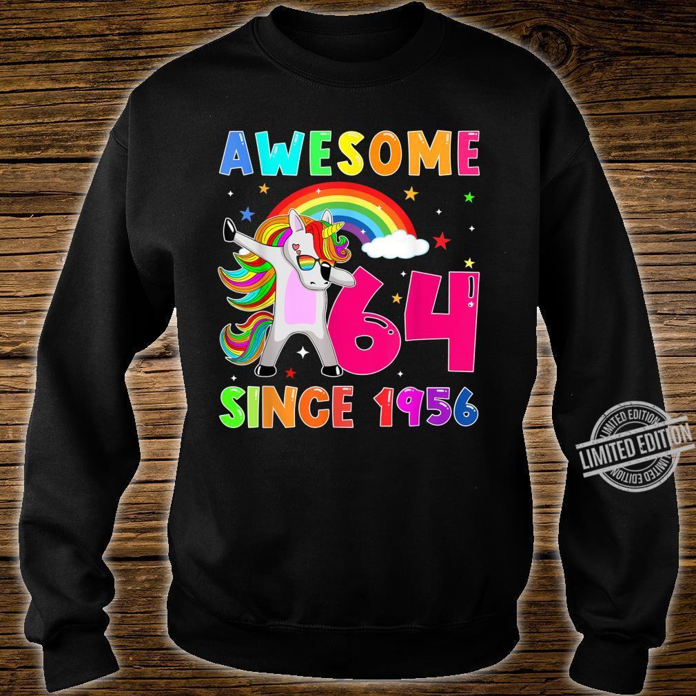 Awesome Since 1956 Dabbing Unicorn 64th Birthday Shirt sweater