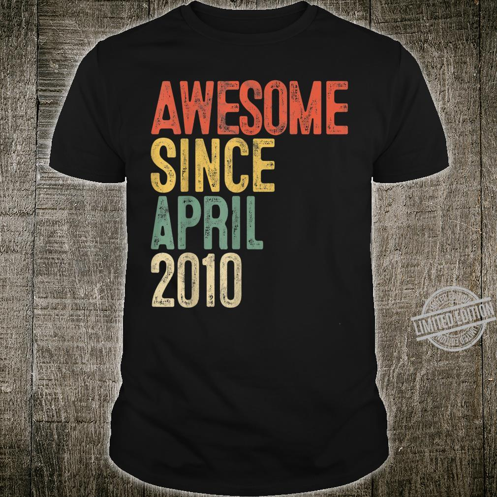 Awesome Since April 2010 10th Birthday 10 Year Old Shirt