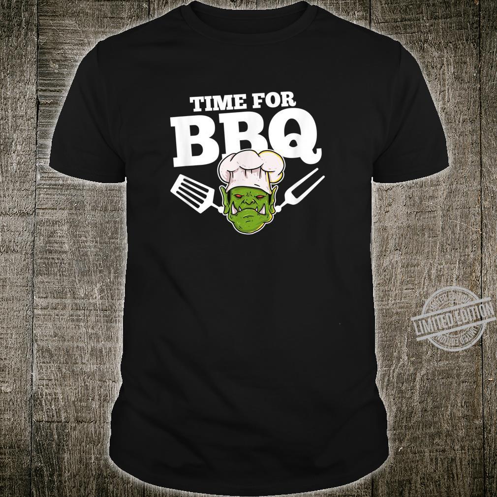 BBQ Grill Grillmeister Grillen Geschenk Für Gamer Shirt