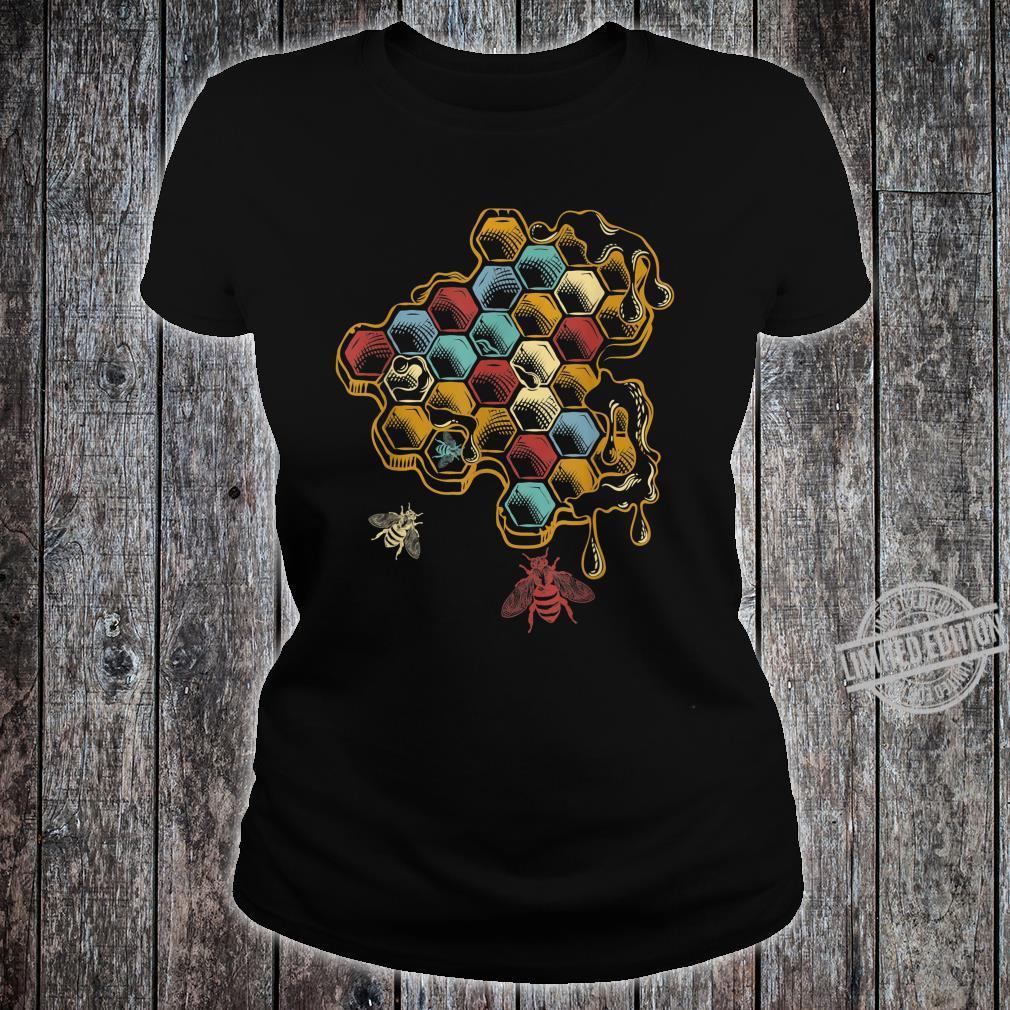 Beehive Retro Vintage Bee Shirt ladies tee