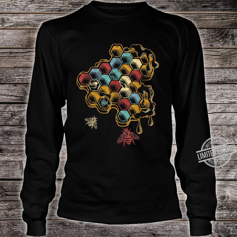 Beehive Retro Vintage Bee Shirt long sleeved