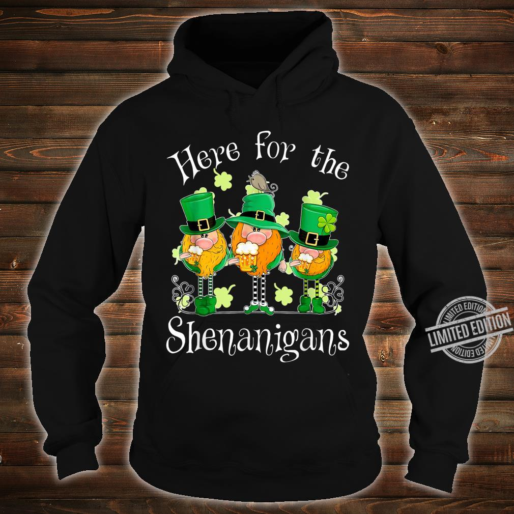 Beer Gnome Shamrock Here For The Shenanigans Patricks Day Shirt hoodie