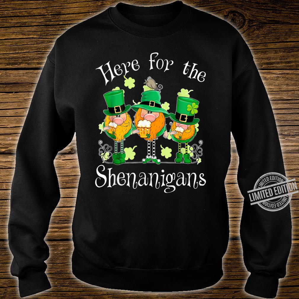 Beer Gnome Shamrock Here For The Shenanigans Patricks Day Shirt sweater