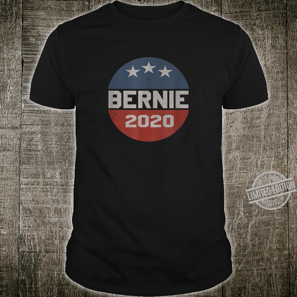 Bernie 2020 Vintage Button Logo Shirt