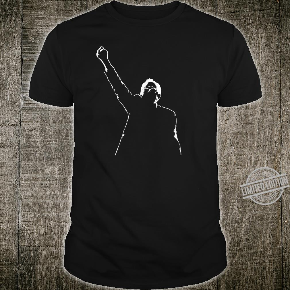 Bernie Sanders Silhouette Fist In Air Rise Fight The Power Shirt