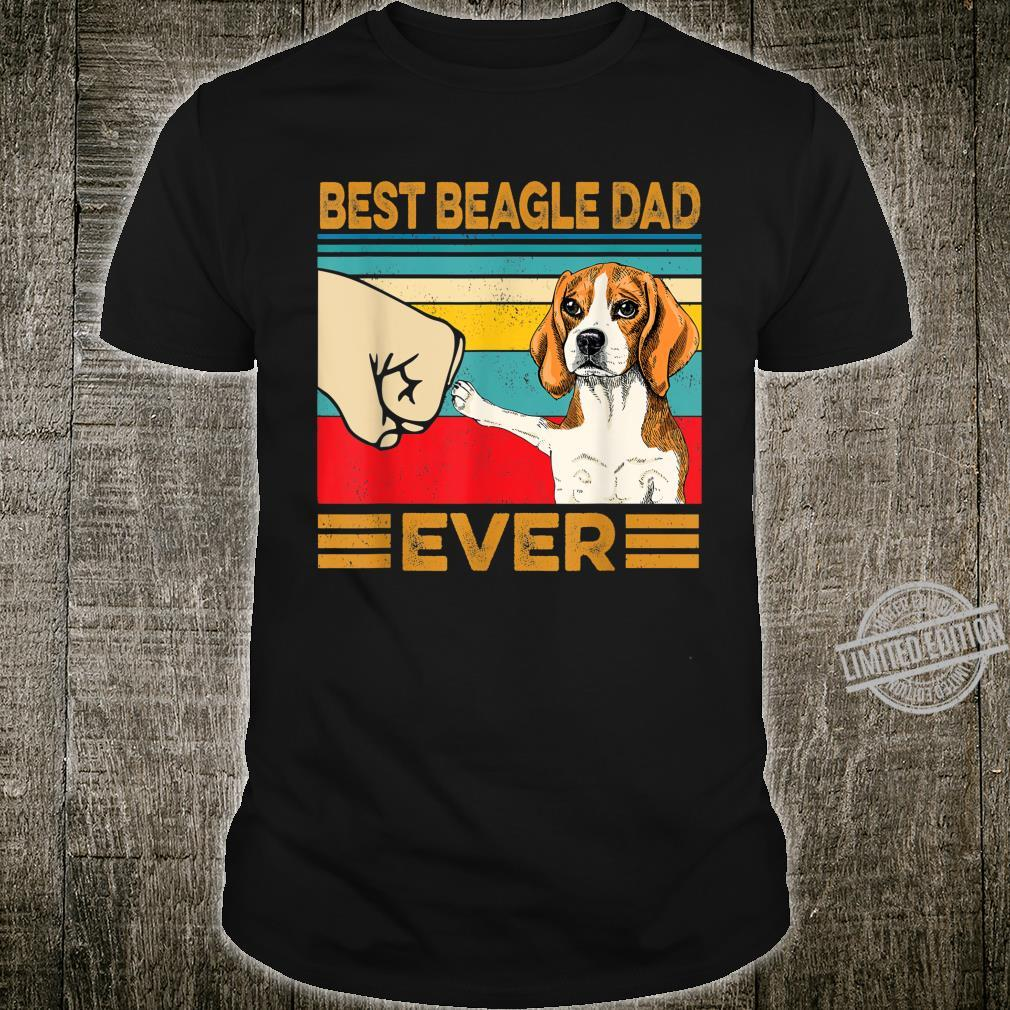 Best BEAGLE Dad Ever Vintage Retro Fathers Day Shirt