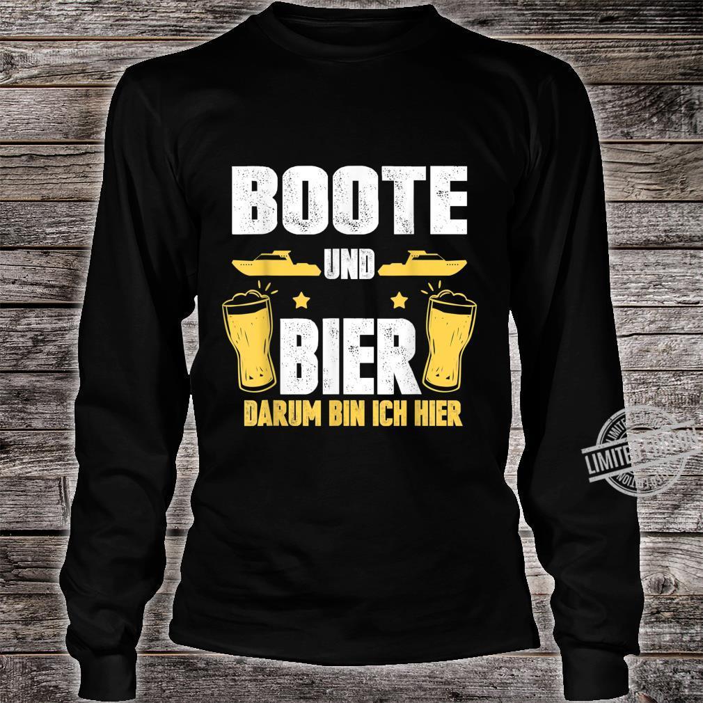 Boote und Bier darum bin ich hier Kapitän Boot Bootsfahrer Shirt long sleeved