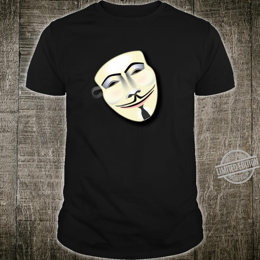 CUTE ART FACE Mask Langarmshirt Shirt