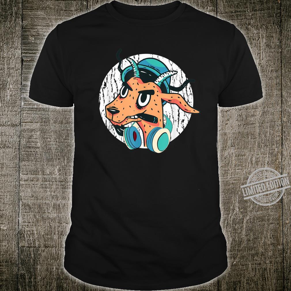 Cool DJ Goat With Headphones Punk Goat Love Music Fans Shirt