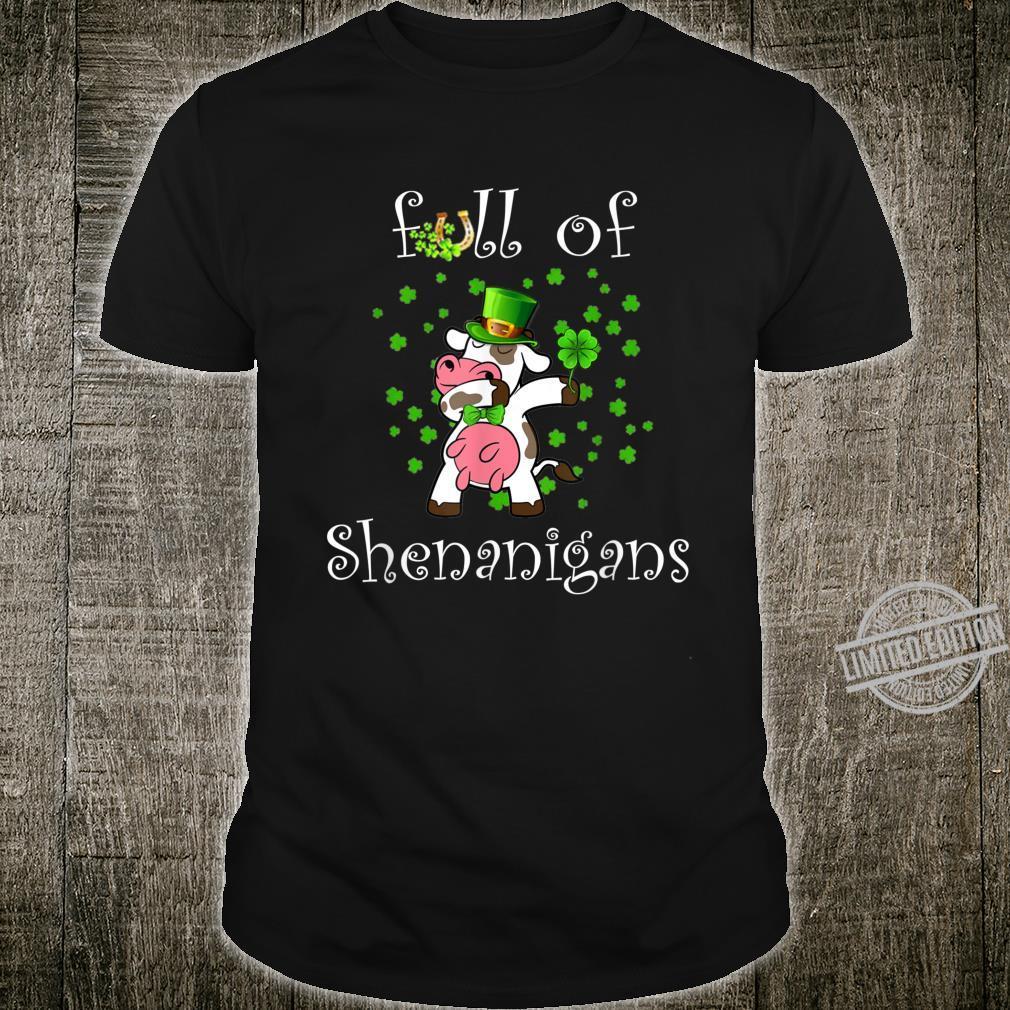 Cow St. Patricks Day Irish Lucky Green Clover Shirt