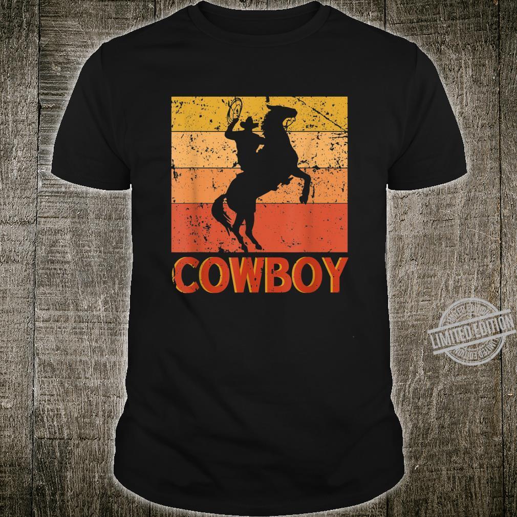 Cowboy Riding Horse Dad Horses Shirt
