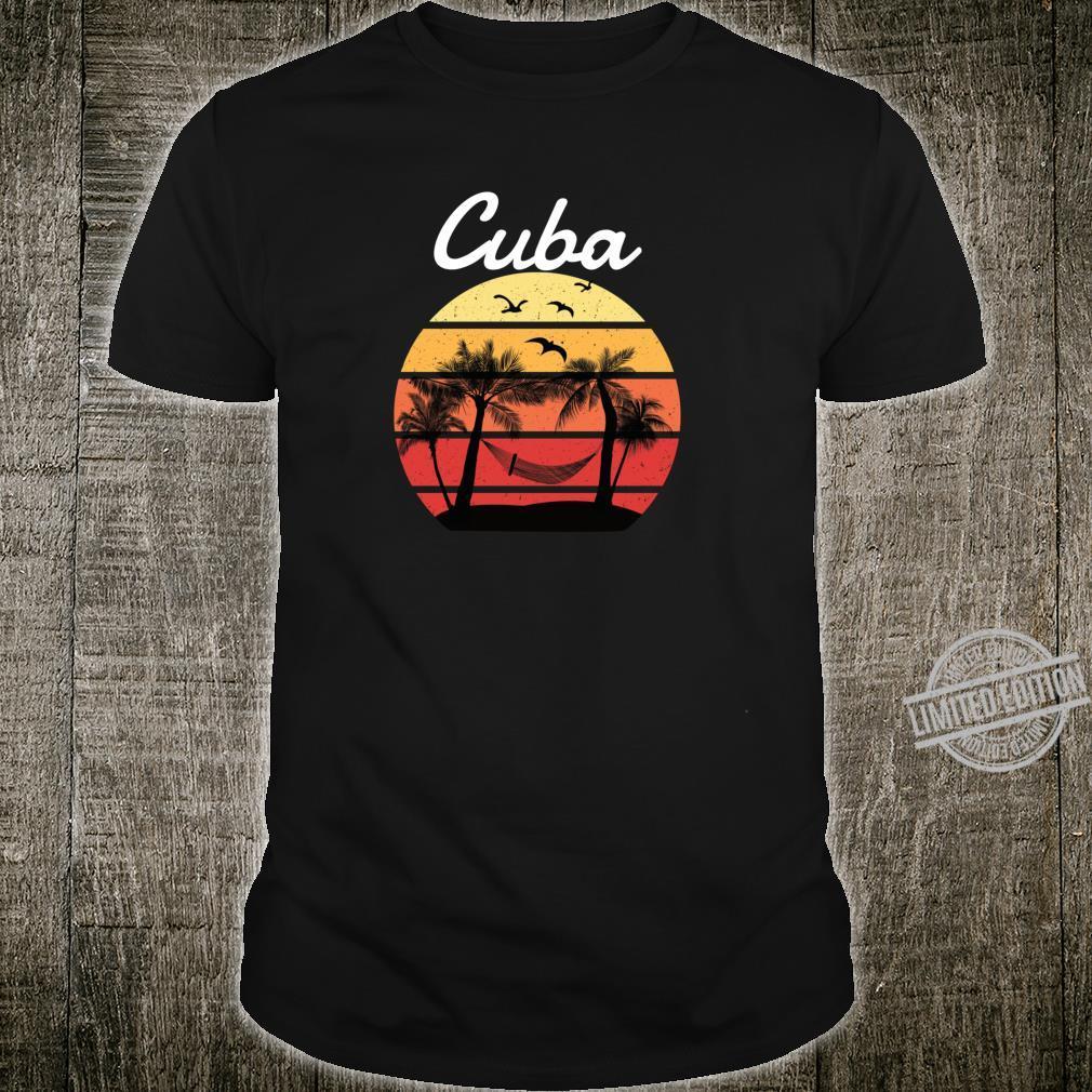 Cuba Urlaub Palmen Paradies Shirt
