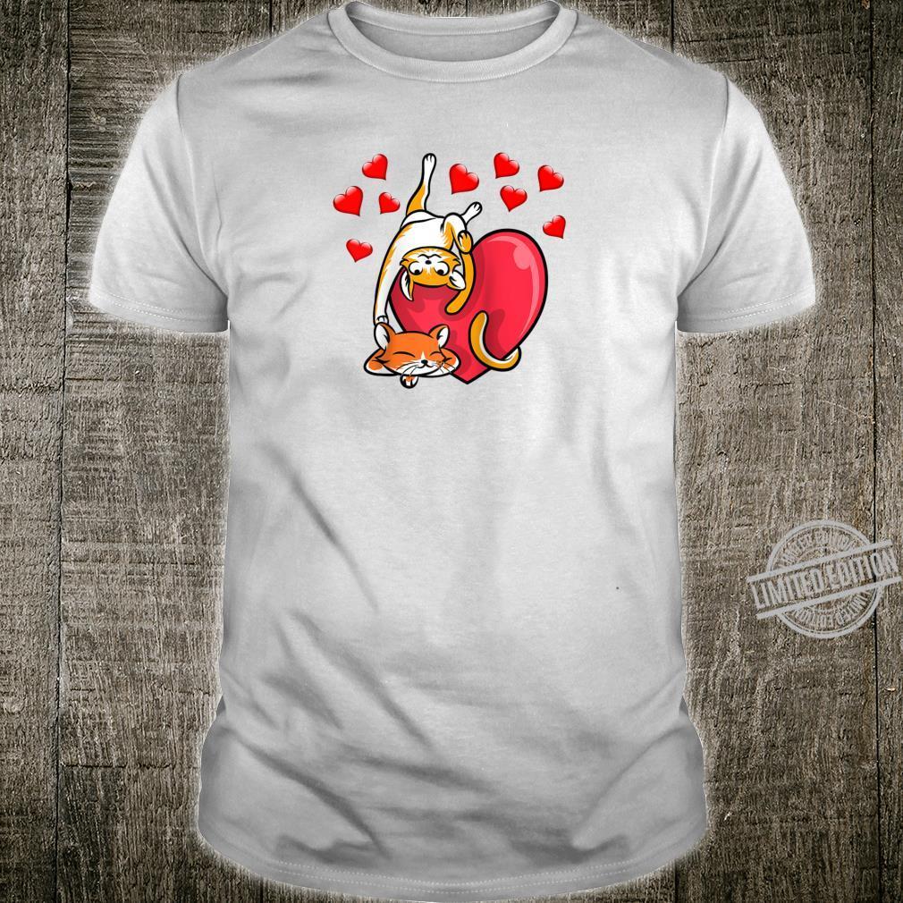 Cute Cat Shirt Valentine kitten Kitty Shirt