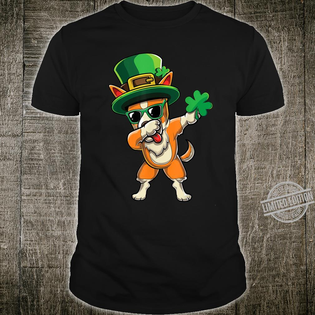 Cute Dabbing Corgi Dog Dab Shamrock St Paddys Day Shirt
