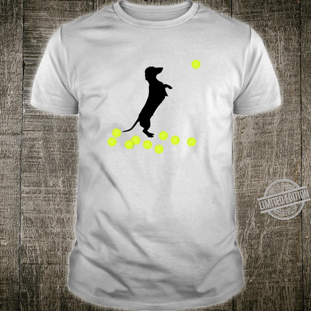 Cute Dachshund Dog Puppy Doxie Playing With Tennis Balls Shirt