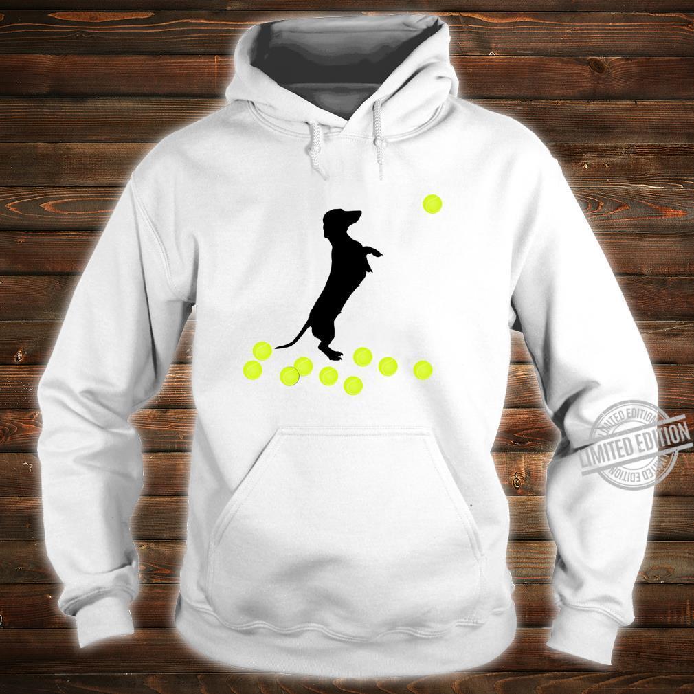 Cute Dachshund Dog Puppy Doxie Playing With Tennis Balls Shirt hoodie