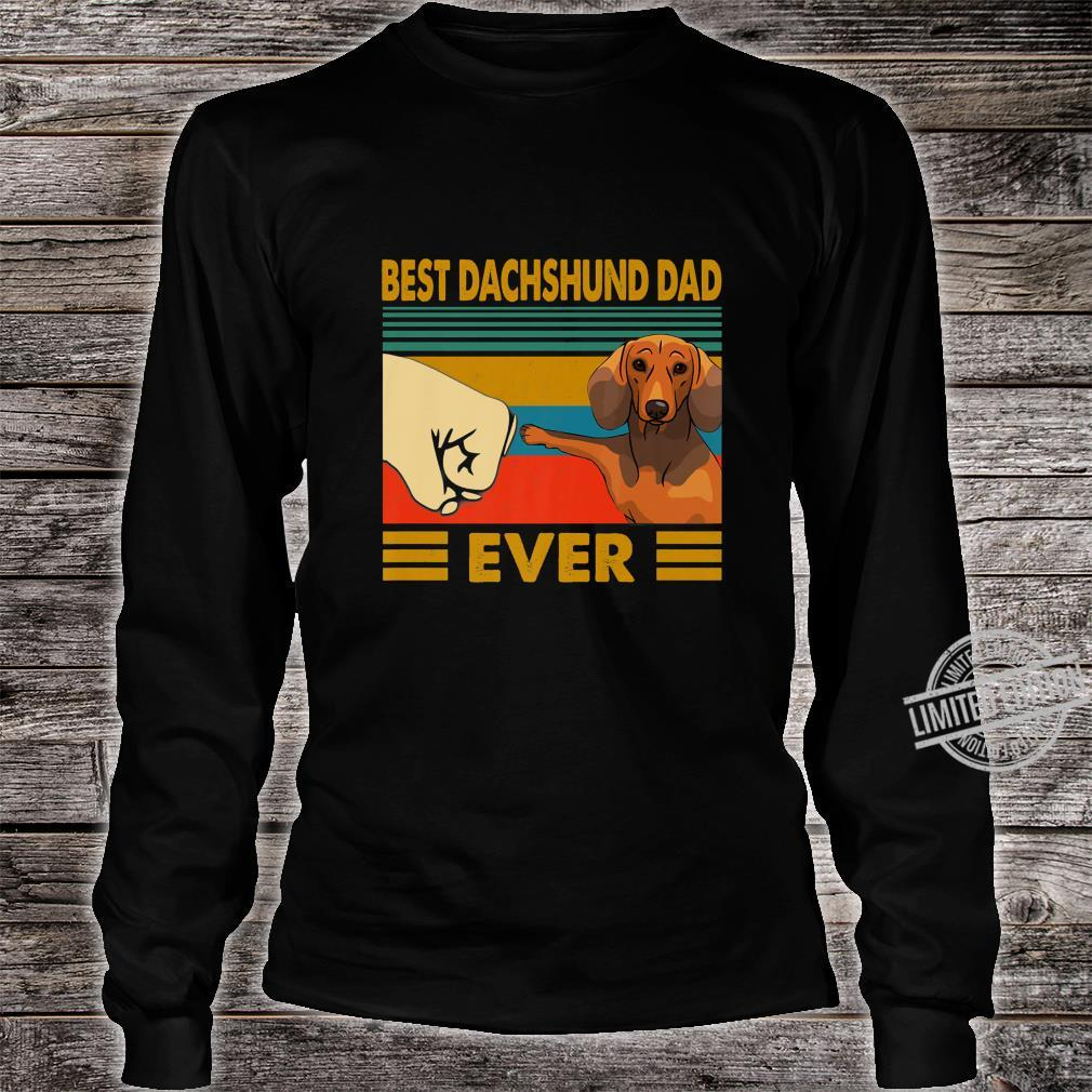 Dachshund Best Dachshund Dad EverDogs's Shirt long sleeved