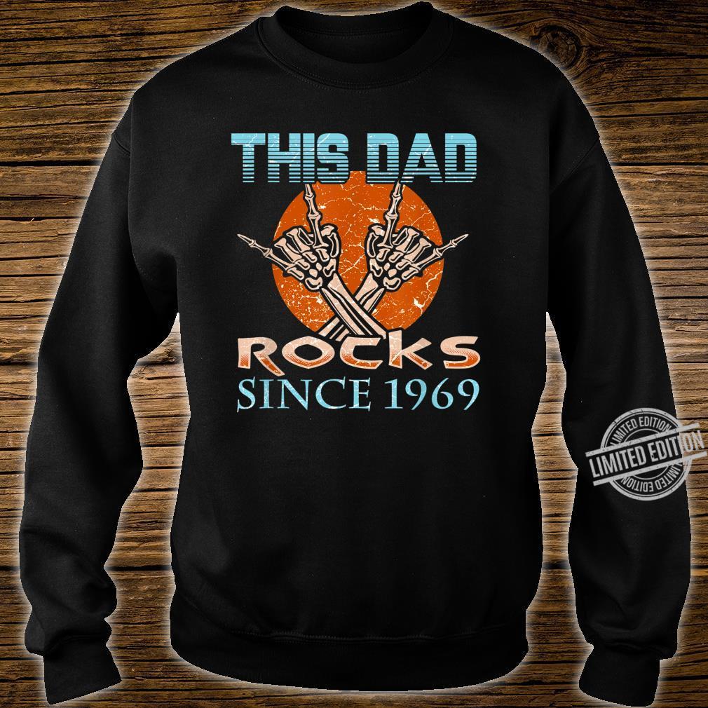 Daddys 50th Birthday This Dad Rocks Since 1969 Shirt sweater