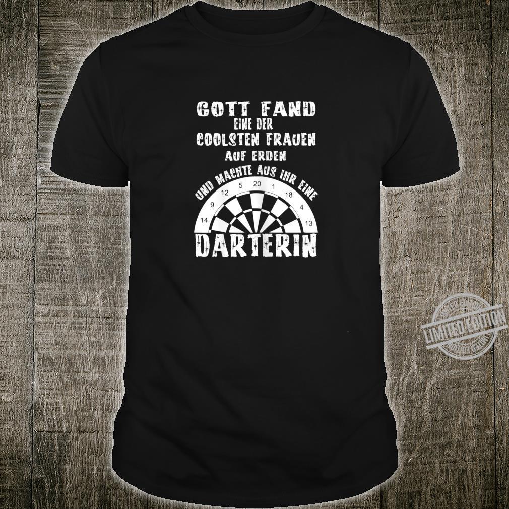 Damen Die coolste Frau auf Erden Dart Darten Darts Shirt