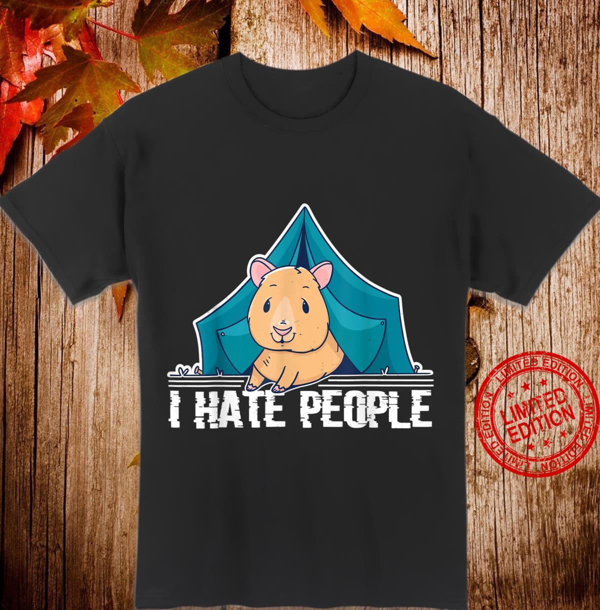 Damen I hate people Zelten Meerschweinchen Camping Shirt