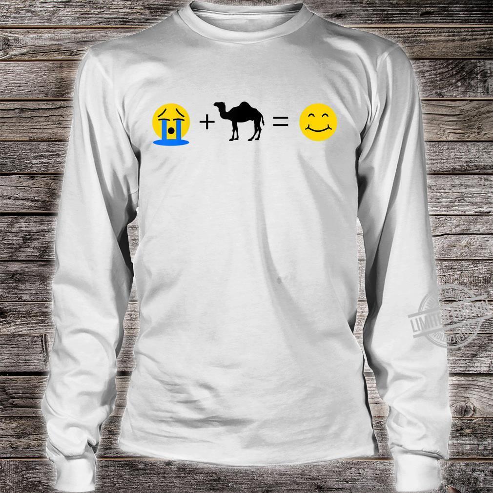 Dromedar Emoji Lustige Dromedare machen mich glücklich Shirt long sleeved