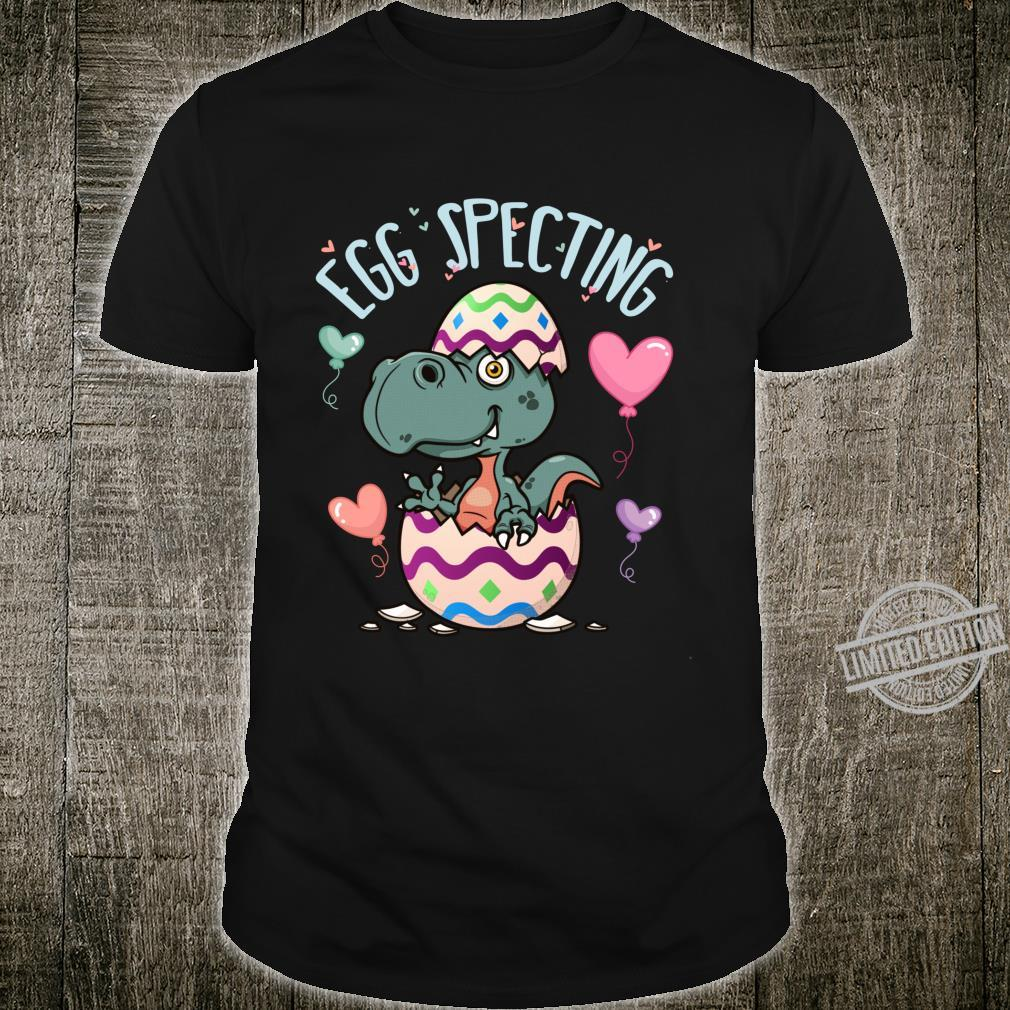 Easter Egg Specting Tee Pregnancy Annoncement TRex Shirt