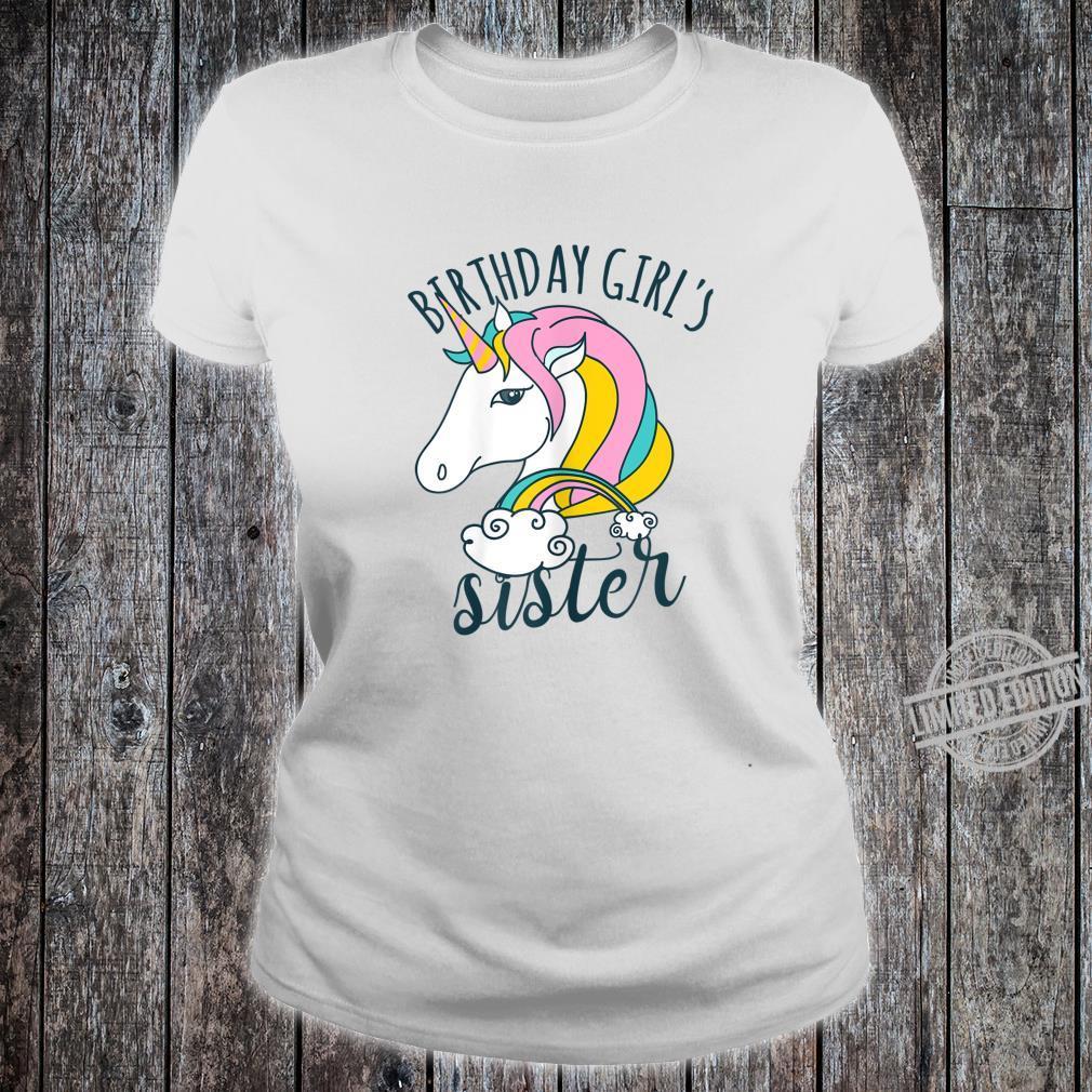Einhorn Regenbogen Unicorn Damen Mädchen Geburtstag Shirt ladies tee