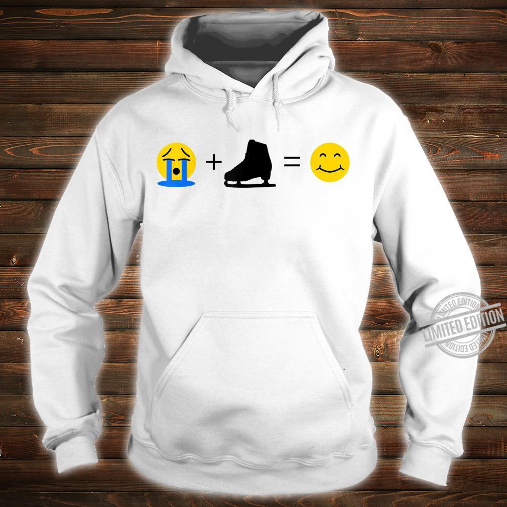 Eislaufen Emoji Lustiges Eislaufen macht mich glücklich Shirt hoodie