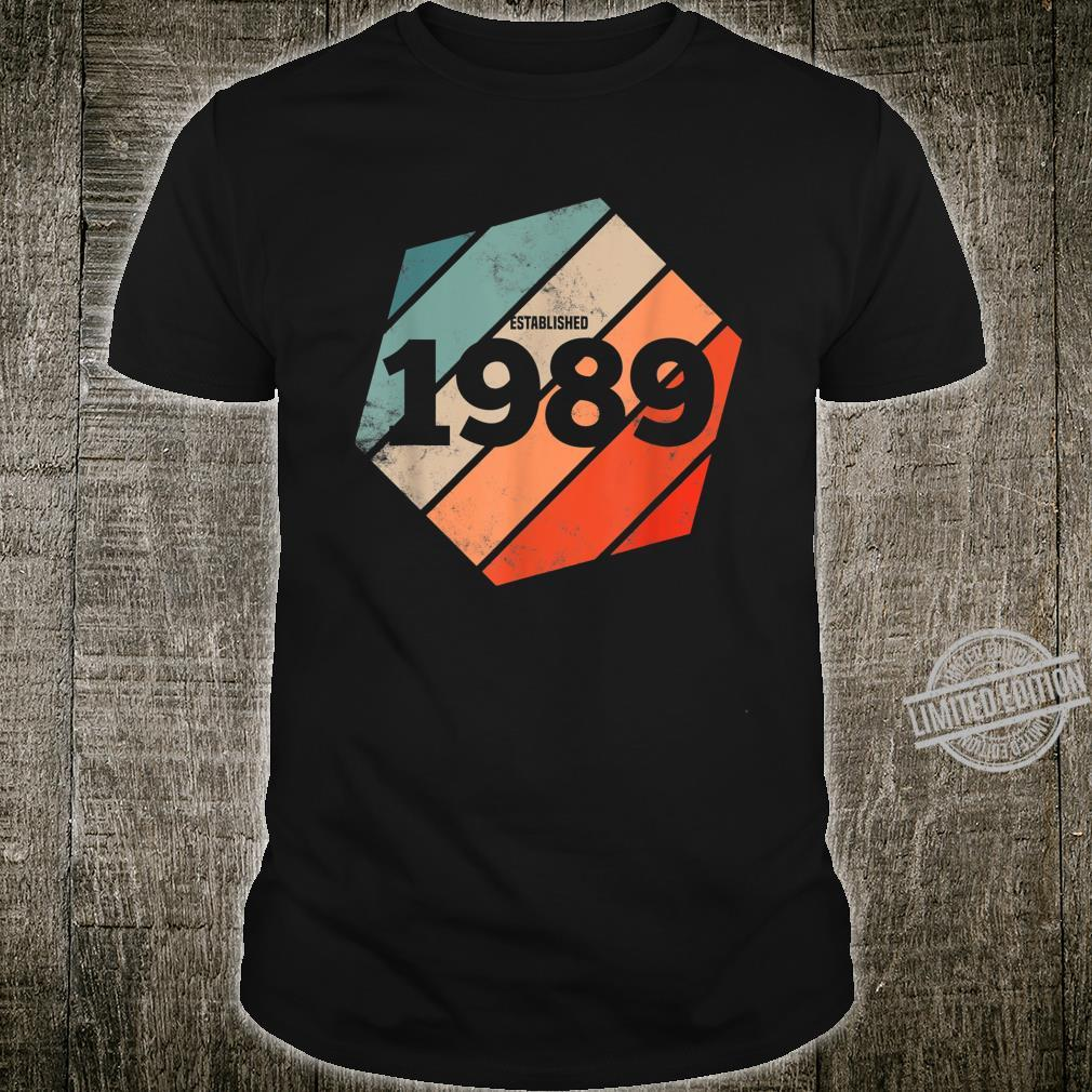 Established 1989 Vintage 31st Birthday Retro Est 1989 Shirt