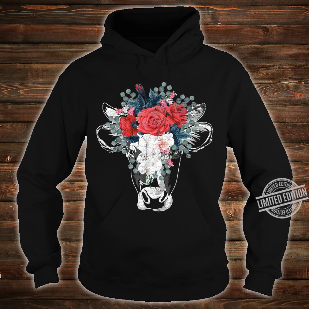Flower Cow Shirt hoodie
