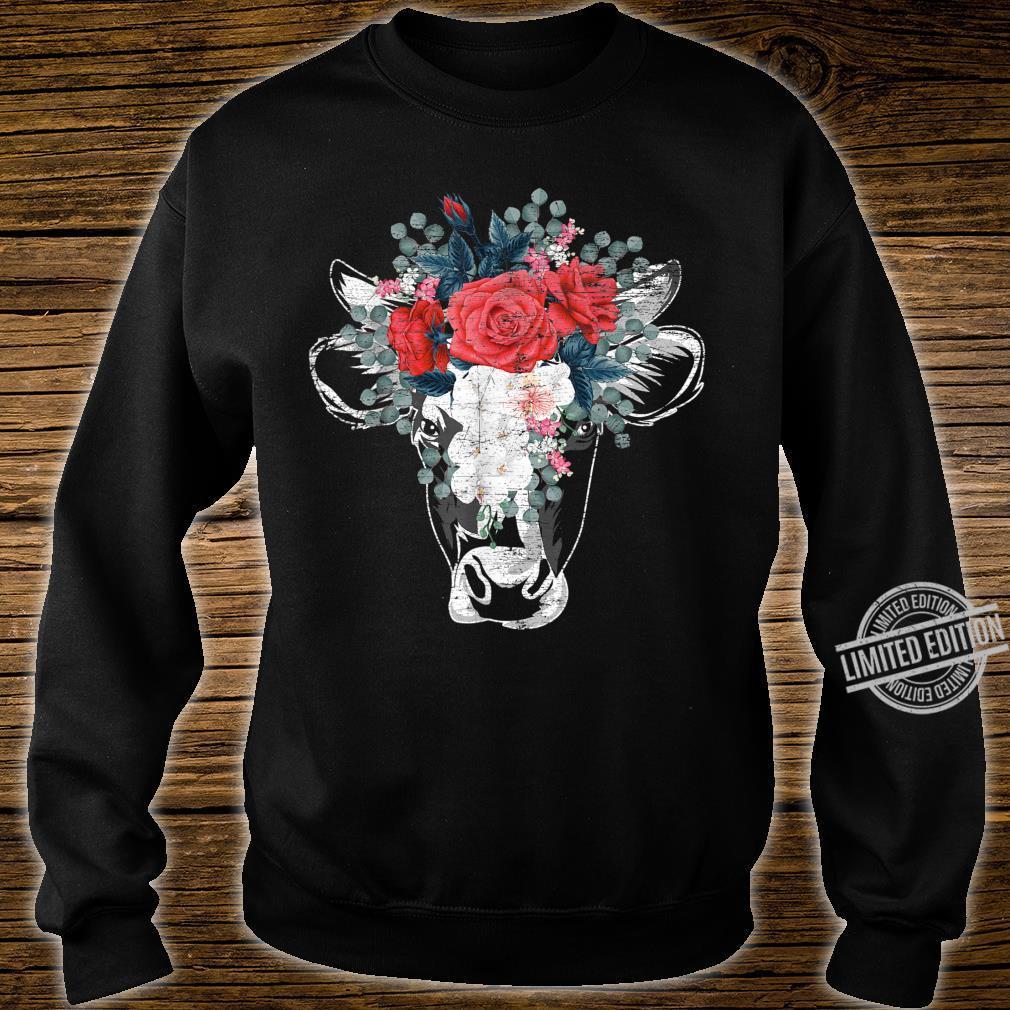 Flower Cow Shirt sweater