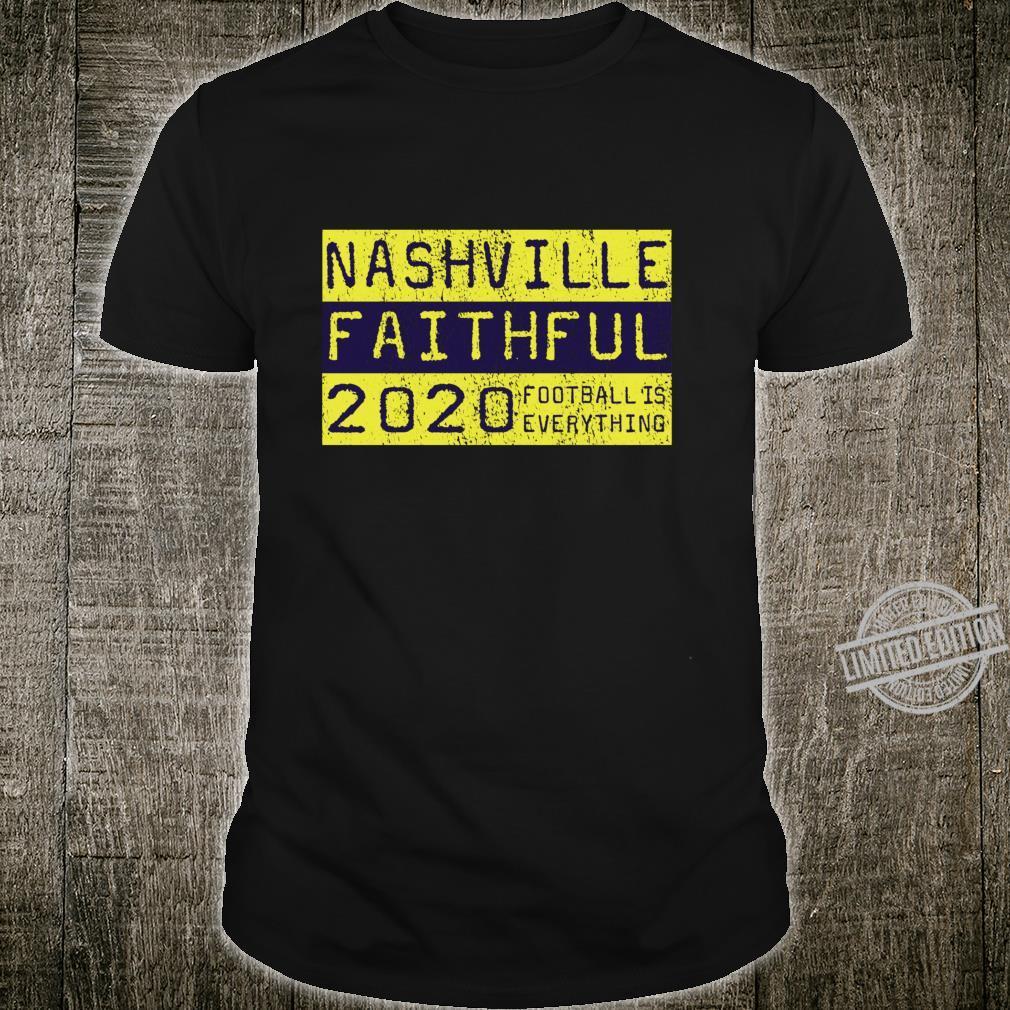 Football Is Everything Nashville Faithful 80s Retro Shirt