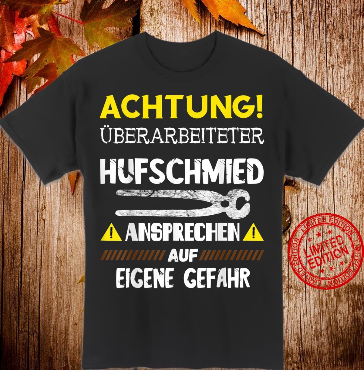 Herren Überarbeiteter Hufschmied Pferde Hufeisen Schmieden Schmied Shirt