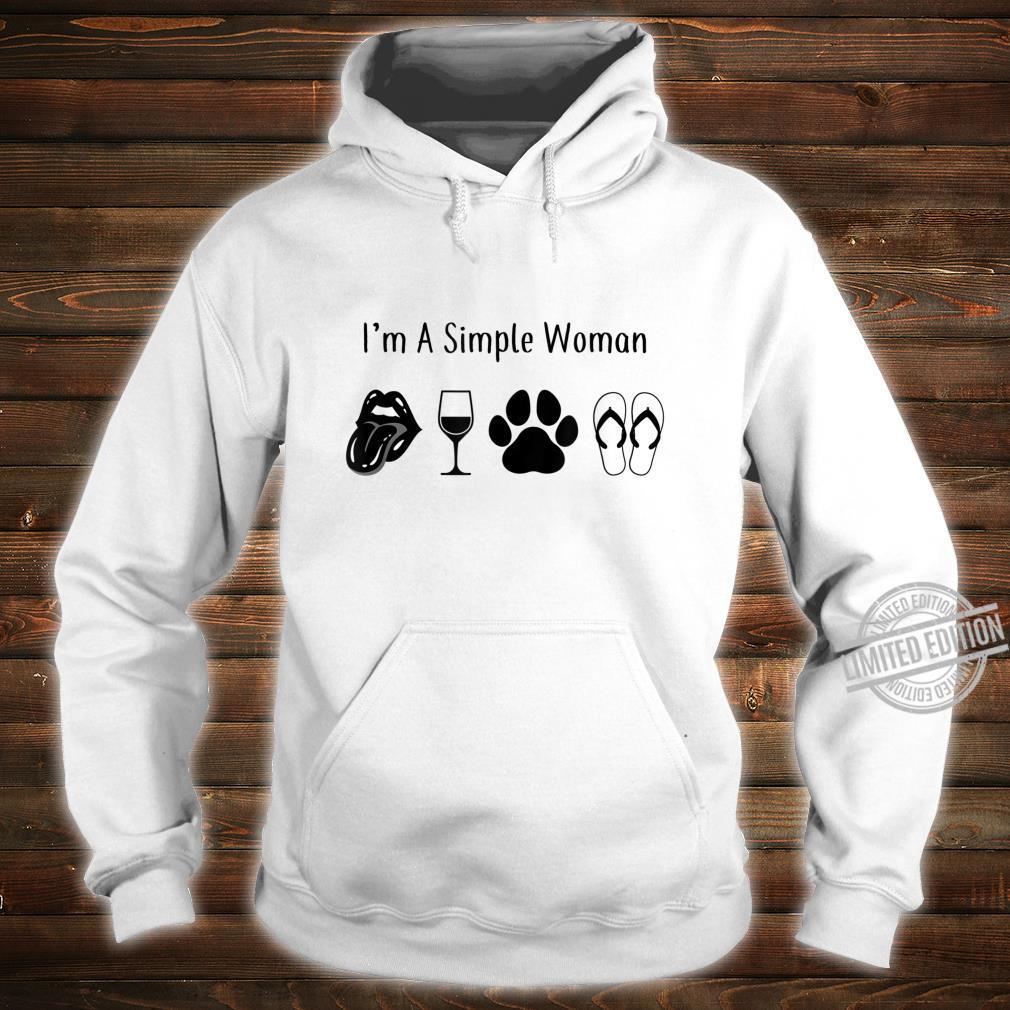 I'm a simple Wine Dog Paw Flip Flops Sexy Lips Shirt hoodie
