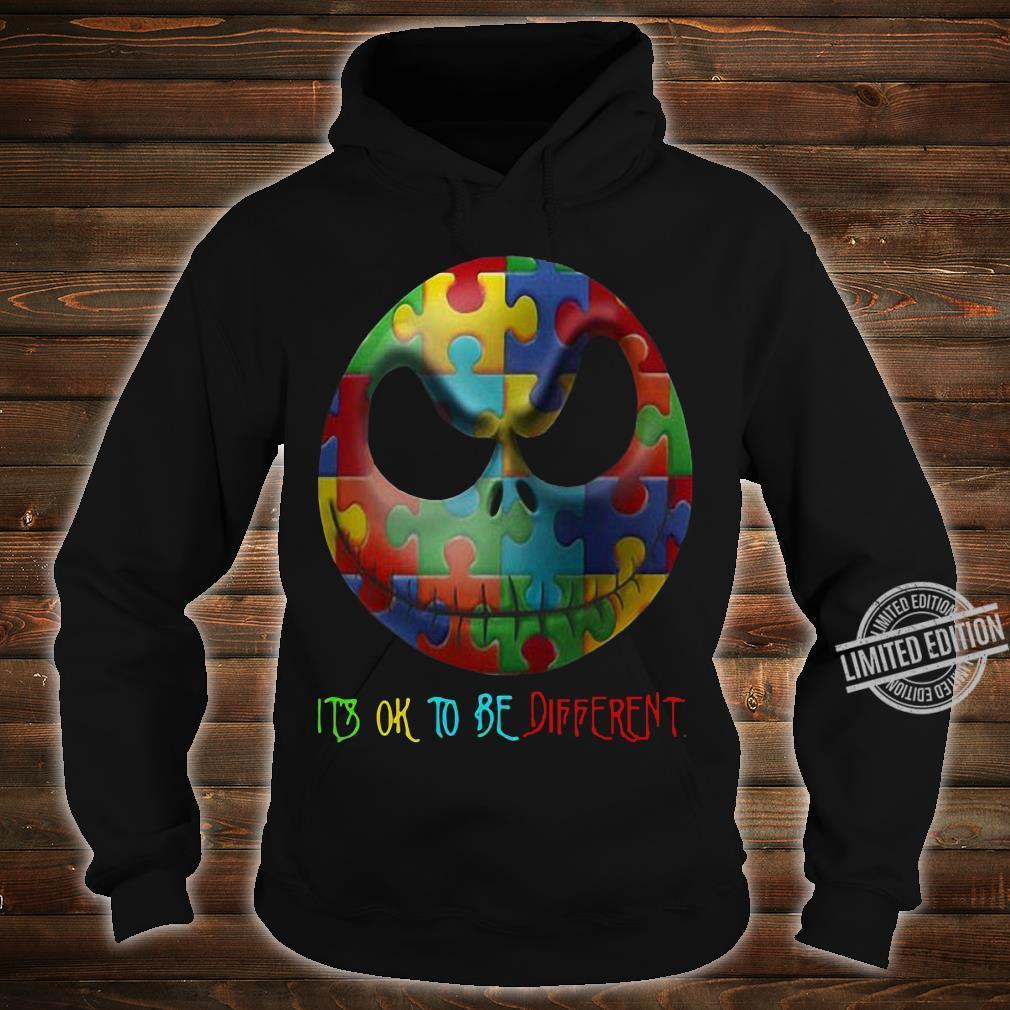 Jack Skellington Face It's Ok To Be Different Men T-Shirt hoodie
