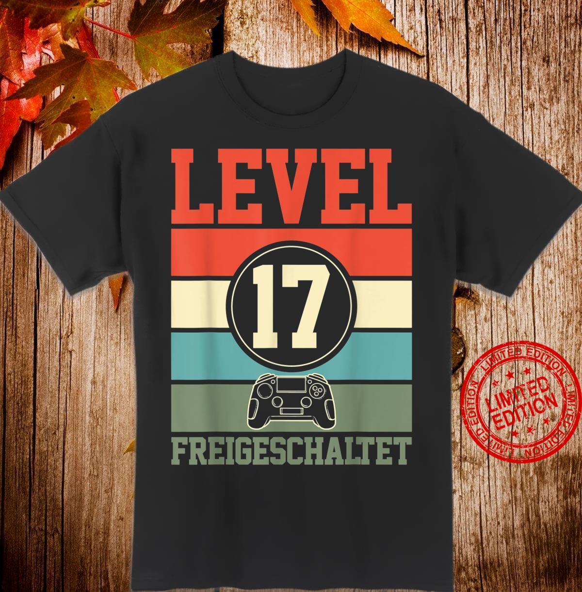 Level 17 Freigeschaltet Geburtstagsgeschenk für Gamer Gaming Shirt