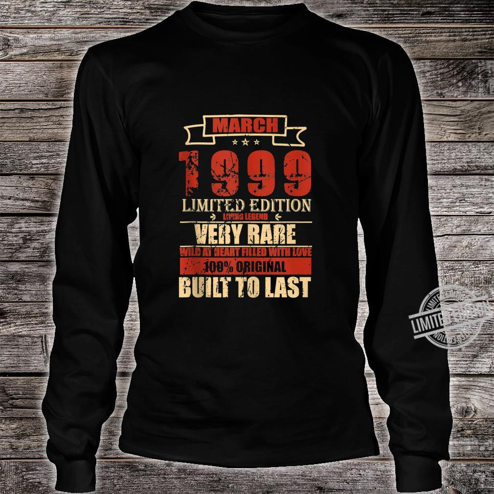 March 1999 Shirt Vintage 21st Birthday 21 Years Old Shirt long sleeved