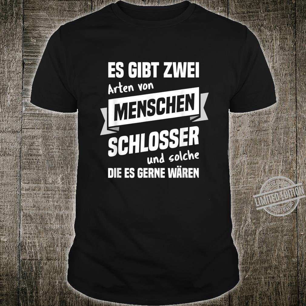 Men's Shirt with German Text Schlosser Profession German Language Shirt