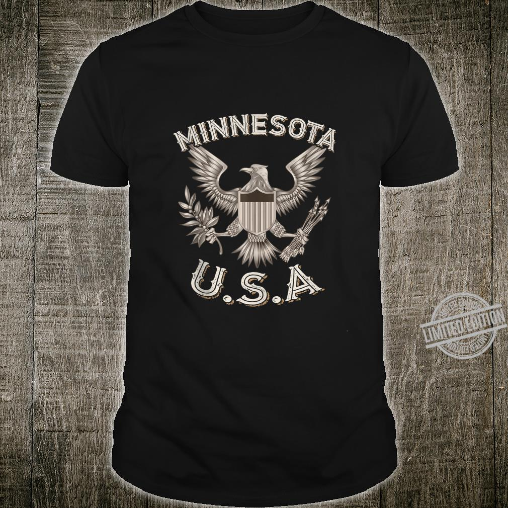 Minnesota USA Patriot American Eagle Vintage Distressed Shirt