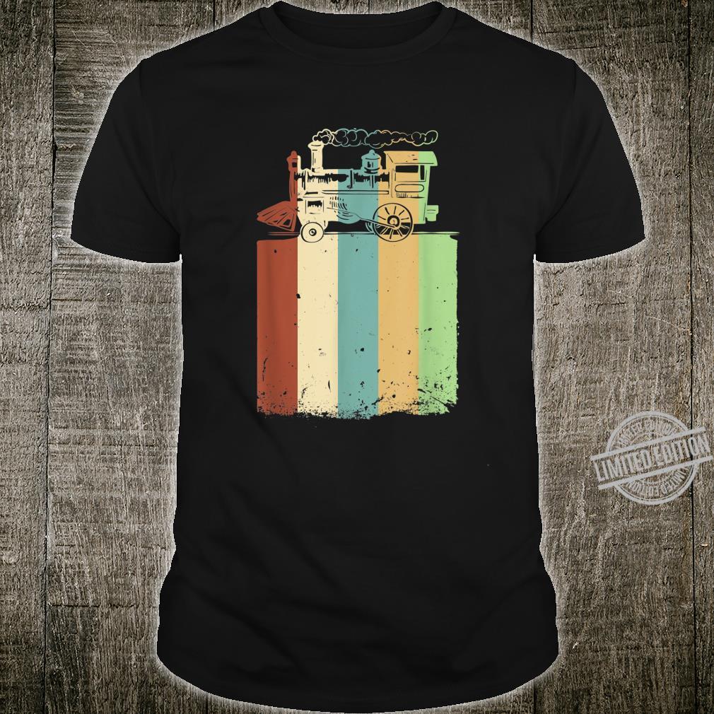 Modelleisenbahn Vintage Dampflok Eisenbahner H0 Geschenk Shirt