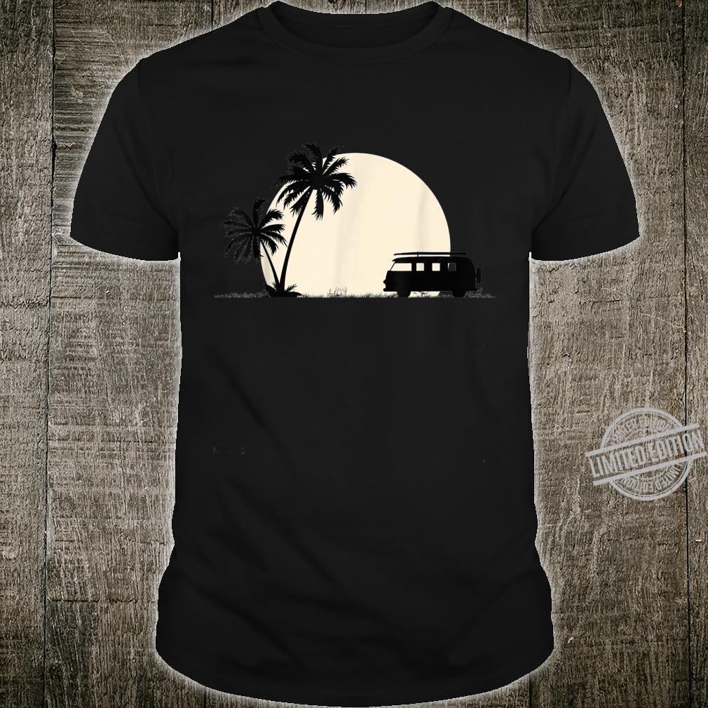 Palm trees moon & camper van for camping & travel road trips Shirt