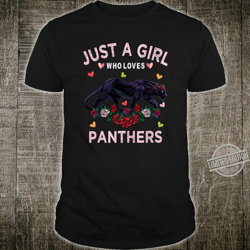 Panther Just A Girl Who Loves Panthers Shirt